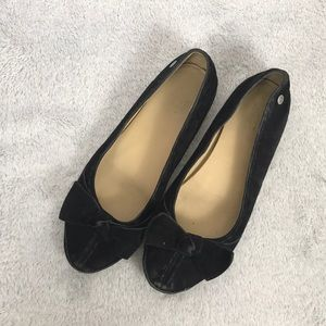 UGG suede leather bow detail flats